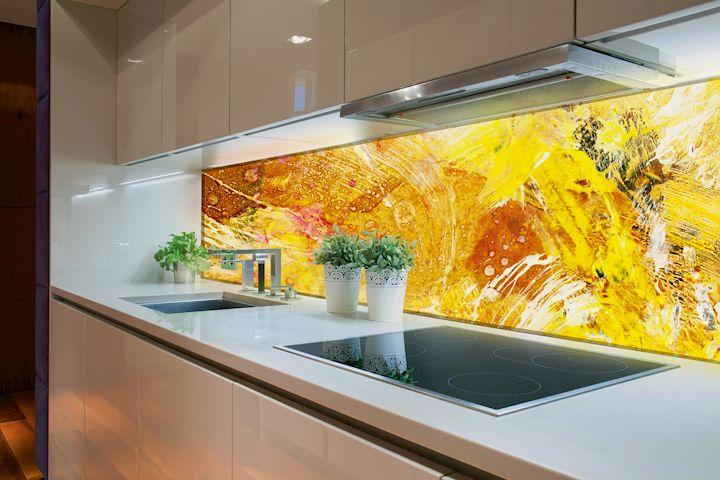 Beleuchtete Küchenrückwand: Bedruckte Lichtfläche ...